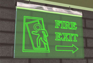 Fire Exit Signage in gurgaon