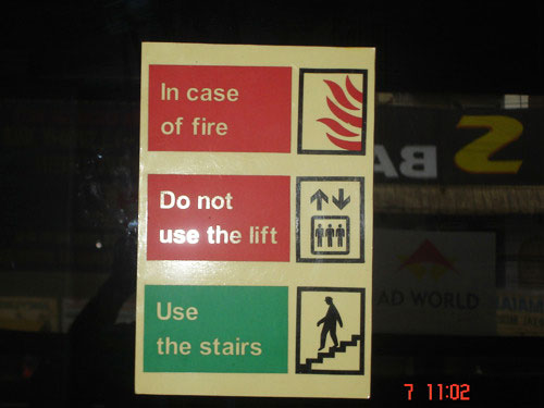 fire safety signage in gurgaon