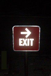 Exit Sign board in gurgaon